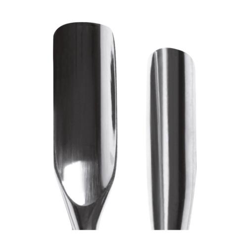 Spingipelle in acciaio inox a due punte concave