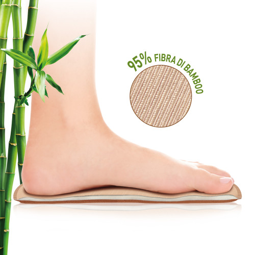 Soletta con rivestimento in fibra di bambù Active Memory Bamboo Misura 46 1 paio