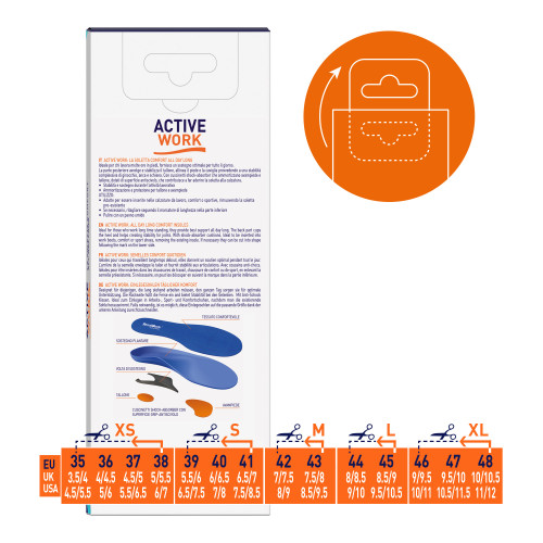 Soletta active work l 44-45 1paio
