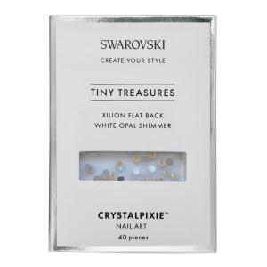 Xilion Flat Back - White Opal Shimmer 40 pz - Swarovski Tiny Treasures