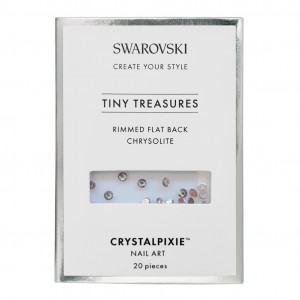 Rimmmed Flat Back - Chysolite 20 pz - Swarovski Tiny Treasur