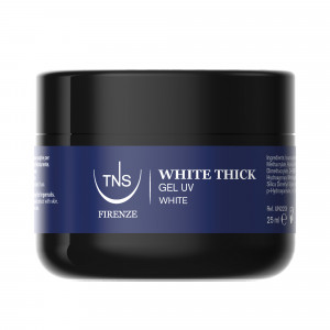 White Thick Bianco Naturale 25 ml - Gel per Allungamento con Cartina