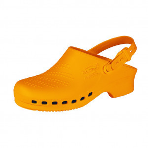 Orange clogs