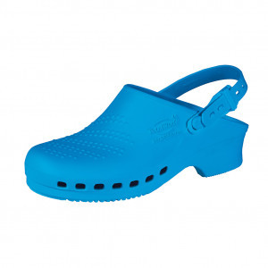 Light blue clogs