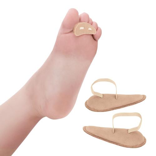 Cuscinetto per dita del piede rivestito in pelle scamosciata 1 paio