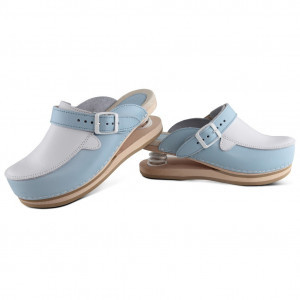 Trend clogs upper closed baby blue