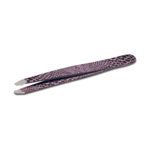 Pinzetta professionale per sopracciglia in Acciaio Inox con punta obliqua Skin